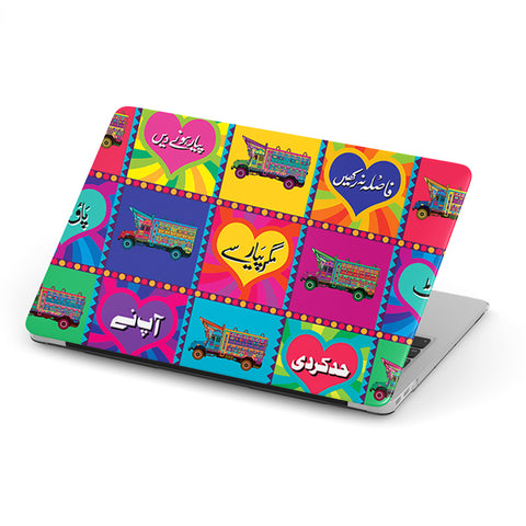 Truck art with truck collage laptop skin