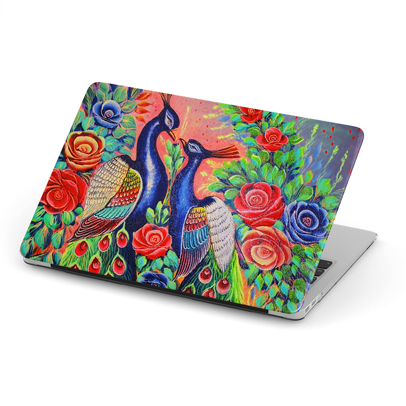 Truck art peacock love laptop skin