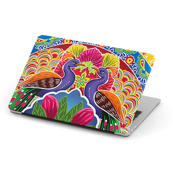 Truck art peacock pattern laptop skin