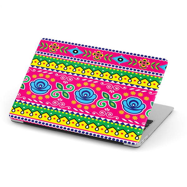 Truck art flower pattern laptop skin