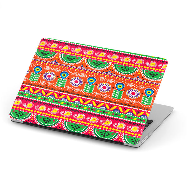 Truck art folk art pattern laptop skin