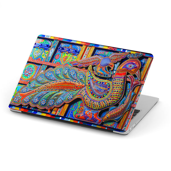 Truck art peacock floral art laptop skin