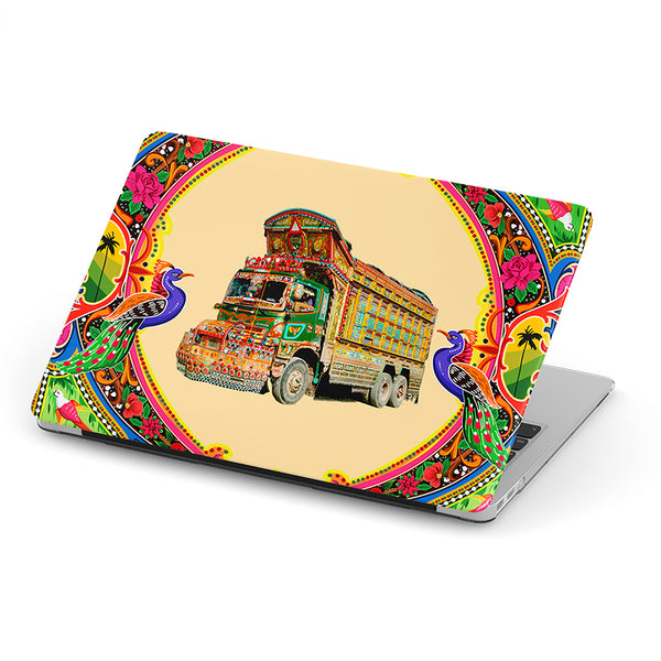 Truck art with truck laptop skin