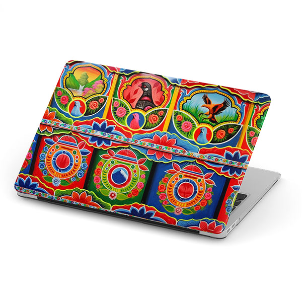 Truck art with kerala pattern laptop skin