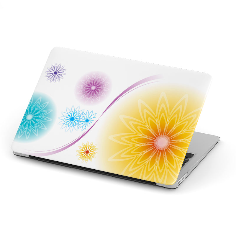 Beautiful White with Multi Color Flowers Background