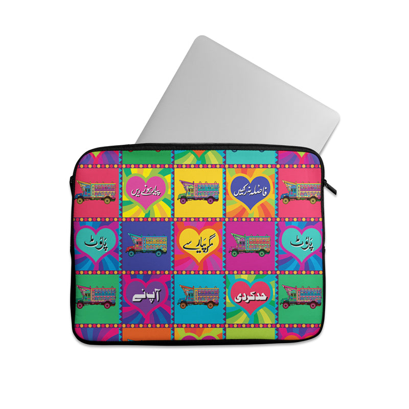 Truck art with truck collage Laptop sleeve