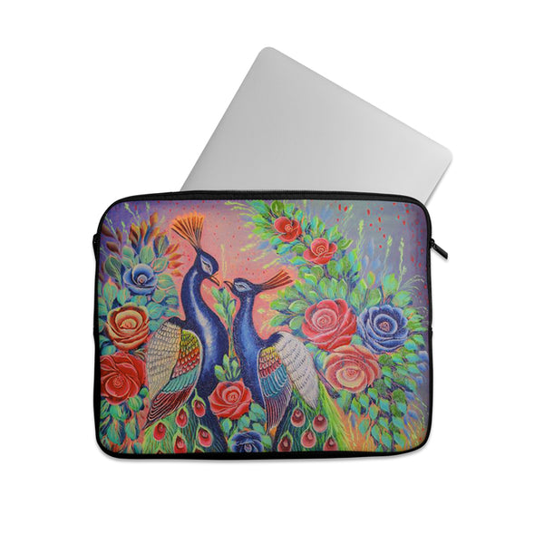 Truck art peacock love Laptop sleeve