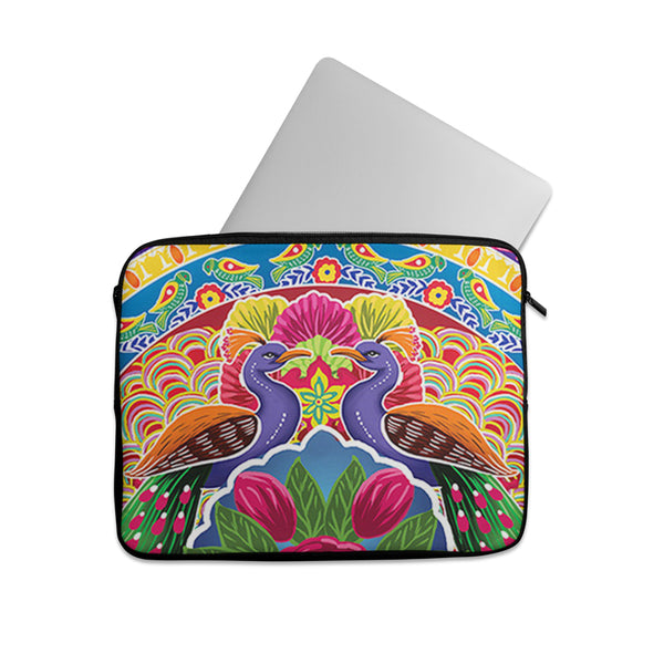 Truck art peacock pattern Laptop sleeve