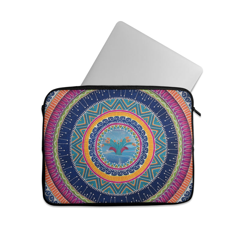 Truck art Rangoli pattern Laptop sleeve