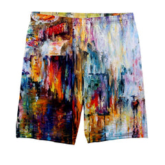 Water Paint Autumn Background Shorts