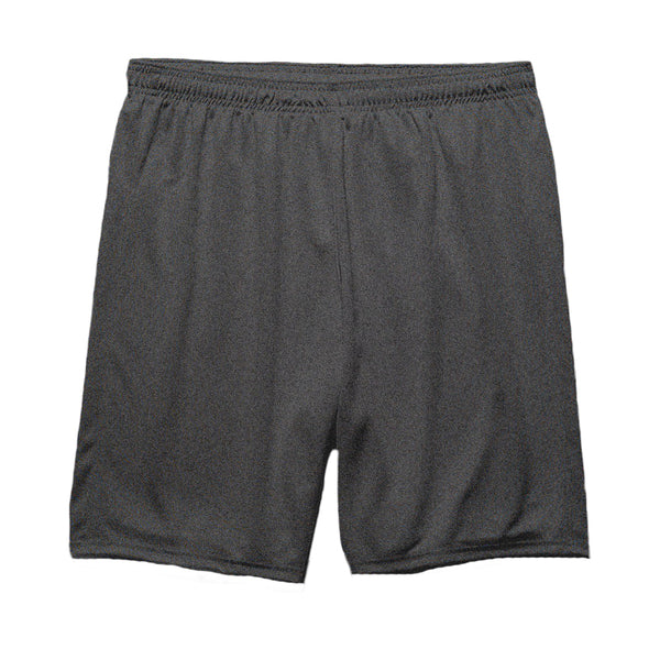 Plain Charcoal Cotton Shorts