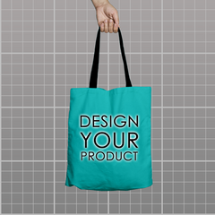 Custom Tote Bag - Teal - zakeke-design