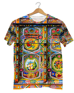 Truck Art pattern T-shirt