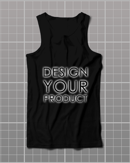 Cotton Graphic Printed Tank Top men - Black / S - zakeke-design