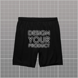 Cotton Graphic Printed Shorts - Black / XS - zakeke-design