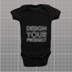 Custom Body Suite - Black / 0-3 months - zakeke-design