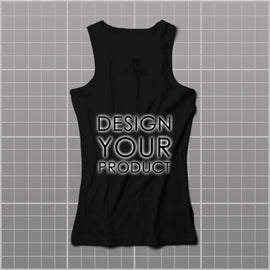 Cotton Graphic Printed Tank Top Women - Black / S - zakeke-design