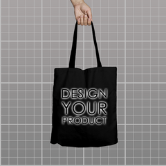 Custom Tote Bag - Black - zakeke-design