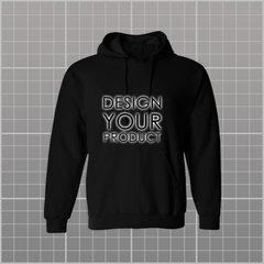 Graphic Printed Hoodie Non-Zipper - Black / S - zakeke-design