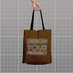 Custom Tote Bag - Brown - zakeke-design