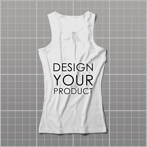 Cotton Graphic Printed Tank Top Women - zakeke-design