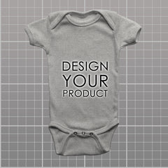 Custom Body Suite - Heather Grey / 0-3 months - zakeke-design