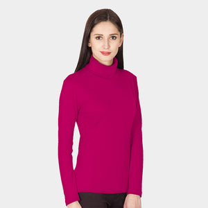 High Neck Cotton Magenta