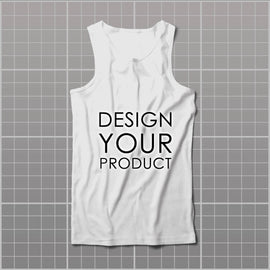 Cotton Graphic Printed Tank Top men - zakeke-design