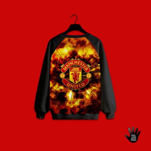 Manchester united logo in fire