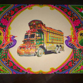 Truck art with truck Mousepad
