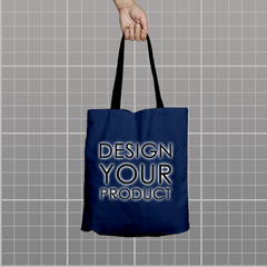 Custom Tote Bag - Navy - zakeke-design