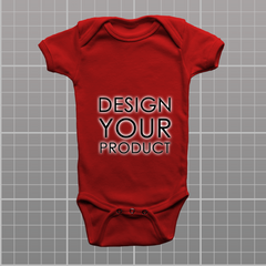 Custom Body Suite - Red / 0-3 months - zakeke-design