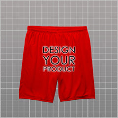 Cotton Graphic Printed Shorts - Red / XS - zakeke-design