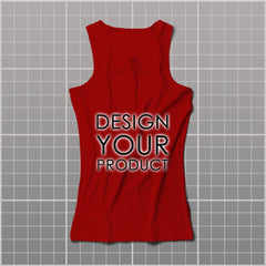 Cotton Graphic Printed Tank Top Women - Red / S - zakeke-design