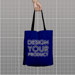 Custom Tote Bag - Royal Blue - zakeke-design