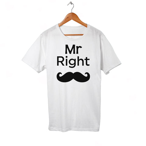 Mr Right white Tee