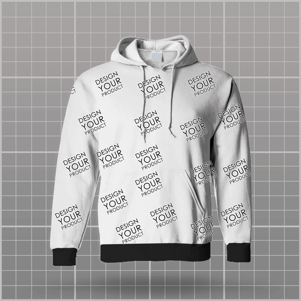 All Over Printed Hoodie Non Zipper - zakeke-design