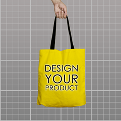 Custom Tote Bag - Yellow - zakeke-design