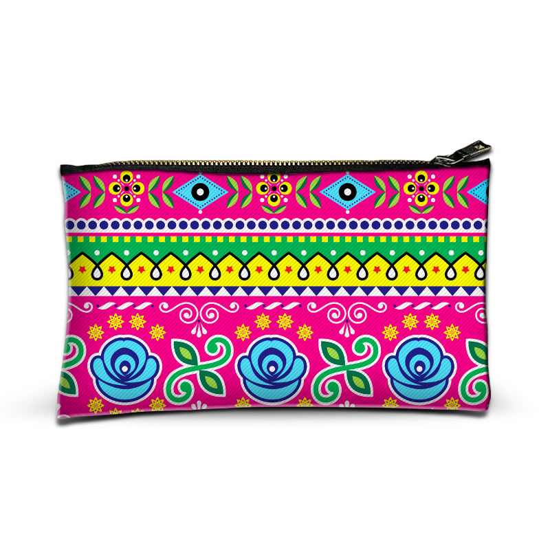 Truck art flower pattern Pouch