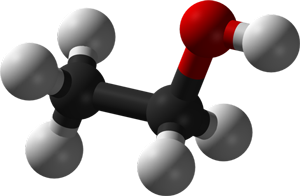 Denatured Ethanol Molecule Graphic