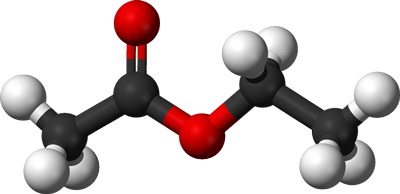 Ethyl Acetate Molecule Graphic