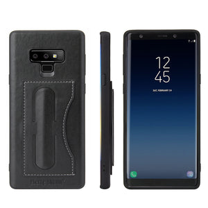 Samsung Galaxy Note 9 Leather Card Wallet Kickstand Case - Aces Wireless
