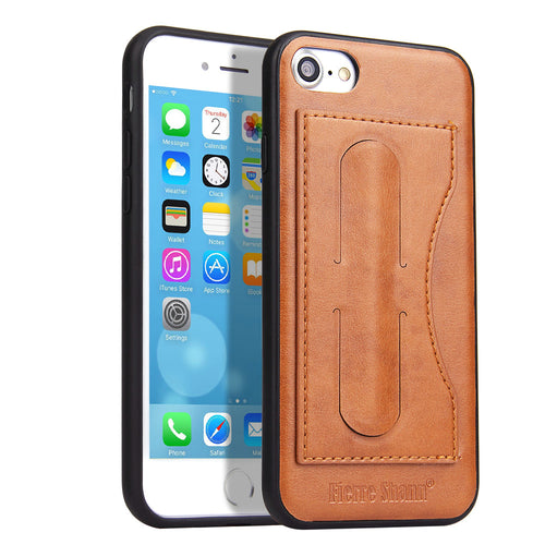 iPhone 7/8 Leather Card Wallet Kickstand Case - Aces Wireless