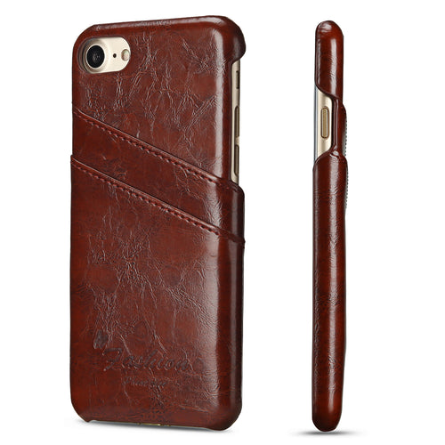 iPhone 7/8 Plus Premium Leather Card Wallet - Aces Wireless