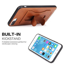 iPhone 7/8 Plus Leather Card Wallet Kickstand Case - Aces Wireless