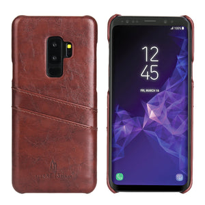 Samsung Galaxy S9 Plus Premium Leather Card Wallet - Aces Wireless