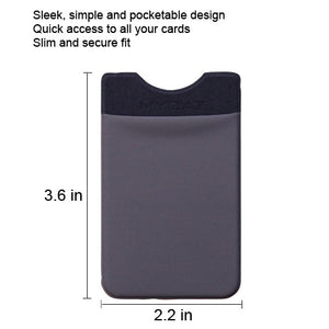 Adhesive Card Pouch Wallet Gray - Aces Wireless
