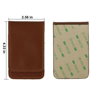 Adhesive Leather Pouch Wallet with Snap Button Real Leather Flip with kickstand - Aces Wireless
