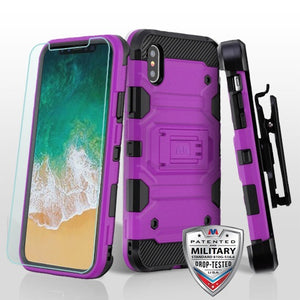 iPhone X 3-in-1 Case Tempered Glass Kickstand Top Seller - Aces Wireless