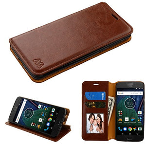 Moto G6 Play Smooth leather Wallet Case - Aces Wireless
